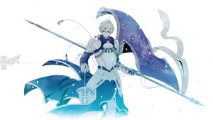 Rating: Safe Score: 85 Tags: armor fate/prototype petals saber short_hair sword weapon white_hair User: Maboroshi