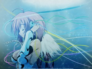 Rating: Safe Score: 70 Tags: chain headphones ikaros sora_no_otoshimono watermark wings User: 秀悟