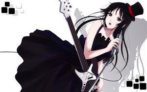 Rating: Safe Score: 122 Tags: akiyama_mio black_hair cait dress goth-loli gray_eyes guitar hat instrument k-on! lolita_fashion long_hair microphone signed white User: HawthorneKitty