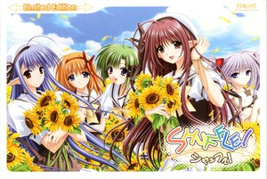 Rating: Questionable Score: 24 Tags: animal bow cat flowers fuyou_kaede hat headband lisianthus nerine nishimata_aoi pointed_ears primula seifuku shigure_asa shuffle sunflower suzuhira_hiro User: 秀悟