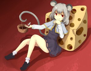 Rating: Safe Score: 37 Tags: animal animal_ears dress drink food gray_hair mouse mousegirl nazrin red_eyes short_hair tail touhou User: Katsumi
