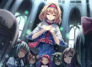 Rating: Safe Score: 118 Tags: alice_margatroid blonde_hair blood bow building goggles gothic group hat headband short_hair touhou xiaoyin_li yellow_eyes User: Flandre93