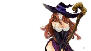 Rating: Safe Score: 107 Tags: breasts cleavage dragon's_crown dress hat isuzu long_hair sorceress_(dragon's_crown) staff white witch_hat User: noitis