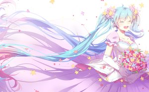 Rating: Safe Score: 79 Tags: hatsune_miku mame_(yangqi787) vocaloid wedding User: FormX