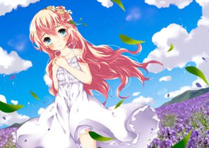 Rating: Safe Score: 76 Tags: dress flowers leaves megurine_luka summer_dress tottsuan vocaloid User: FormX