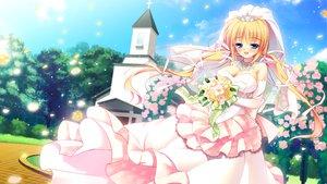 Rating: Safe Score: 77 Tags: game_cg kazamatsuri_mana manatsu_no_yoru_no_yuki_monogatari mikeou wedding wedding_attire User: Maboroshi