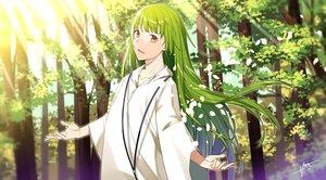 Rating: Safe Score: 19 Tags: all_male enkidu fate/grand_order fate_(series) green_hair long_hair male petals sahuyaiya tree waifu2x yellow_eyes User: RyuZU