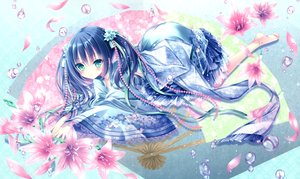 Rating: Safe Score: 48 Tags: barefoot cropped flowers japanese_clothes lolita_fashion long_hair original scan tinkle twintails User: BattlequeenYume