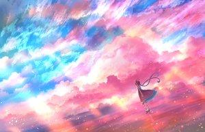 Rating: Safe Score: 40 Tags: bou_nin braids clouds dress original polychromatic reflection scenic sky User: mattiasc02