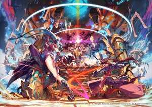 Rating: Safe Score: 127 Tags: armor blue_hair boots coremasters eyepatch long_hair ryota-h twintails watermark User: Flandre93