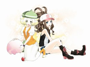 Rating: Safe Score: 60 Tags: 92m bel_(pokemon) blonde_hair blue_eyes boots brown_hair green_eyes hat munna pokemon touko_(pokemon) User: austerely