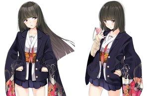 Rating: Safe Score: 32 Tags: black_eyes black_hair japanese_clothes long_hair original phone schreibe_shura seifuku skirt white User: RyuZU