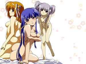 Rating: Questionable Score: 61 Tags: ass blue_eyes blue_hair breasts fuyou_kaede gray_hair navel nerine nude orange_hair pointed_ears primula red_eyes shuffle tagme_(artist) User: Oyashiro-sama