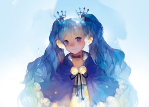 Rating: Safe Score: 38 Tags: blue_eyes blue_hair blush choker fuyu_no_yoru_miku hatsune_miku long_hair malu_(maluaya) twintails vocaloid User: FormX