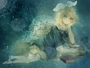 Rating: Safe Score: 45 Tags: barefoot book kagamine_rin ranpak vocaloid User: MissBMoon