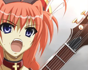 Rating: Safe Score: 24 Tags: guitar instrument mahou_shoujo_lyrical_nanoha suzumiya_haruhi_no_yuutsu vita User: Oyashiro-sama