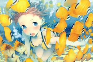 Rating: Safe Score: 161 Tags: animal bikini breasts cleavage dengeki_moeoh fish nishieda original swimsuit underwater water User: Wiresetc