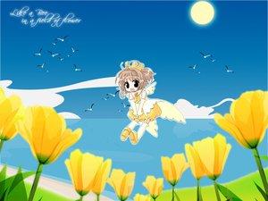 Rating: Safe Score: 12 Tags: card_captor_sakura fairy flowers kinomoto_sakura User: Oyashiro-sama