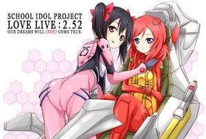 Rating: Safe Score: 26 Tags: 2girls black_hair cosplay karamone-ze love_live!_school_idol_project neon_genesis_evangelion nishikino_maki red_hair yazawa_nico User: FormX