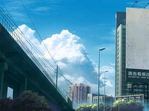 Rating: Safe Score: 41 Tags: building city clouds jpeg_artifacts mclelun nobody original scenic sky tree User: RyuZU