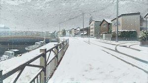 Rating: Safe Score: 128 Tags: game_cg koi_de_wa_naku landscape nobody scenic snow winter User: Wiresetc
