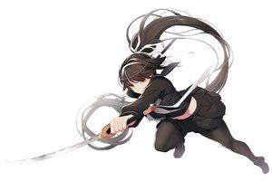 Rating: Safe Score: 57 Tags: anthropomorphism azur_lane black_hair katana koflif long_hair pantyhose ponytail ribbons seifuku skirt sword takao_(azur_lane) weapon white User: RyuZU