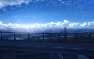 Rating: Safe Score: 84 Tags: anyotete brown_hair building city clouds hoodie original scenic short_hair shorts sky User: otaku_emmy