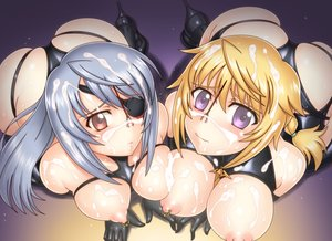 Rating: Explicit Score: 97 Tags: ass blonde_hair bondage breasts charlotte_dunois cum eyepatch gray_hair infinite_stratos laura_bodewig necklace nipples umetsu_yasuomi User: Freenight