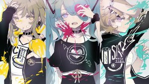 Rating: Safe Score: 59 Tags: bandage collar gumi hatsune_miku heremia kagamine_rin sketch vocaloid User: FormX