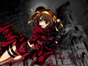 Rating: Safe Score: 69 Tags: devil_may_cry gun parody suzumiya_haruhi suzumiya_haruhi_no_yuutsu weapon User: Zloan