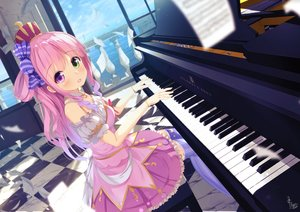 Rating: Safe Score: 51 Tags: bicolored_eyes blush chinomaron crown dress himemori_luna hololive instrument long_hair piano signed wristwear User: BattlequeenYume