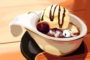 Rating: Safe Score: 33 Tags: animal chai_(artist) cherry chocolate food fruit hat ice_cream original penguin scarf signed User: otaku_emmy