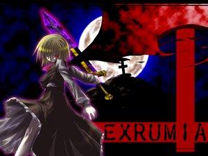 Rating: Safe Score: 17 Tags: blonde_hair dress ex_rumia moon red_eyes rumia short_hair sword touhou weapon User: Oyashiro-sama