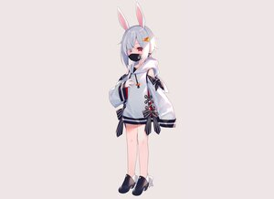 Rating: Safe Score: 27 Tags: animal_ears blush bow bunny_ears bunnygirl dress flat_chest gray hoodie mask meito_(maze) original red_eyes short_hair white_hair User: otaku_emmy