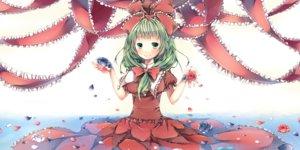 Rating: Safe Score: 59 Tags: flowers green_eyes green_hair kagiyama_hina komeshiro_kasu petals ribbons rose touhou water User: FormX