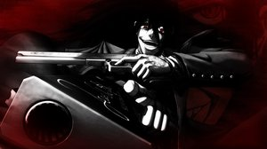 Rating: Safe Score: 96 Tags: alucard black_hair gloves hellsing red_eyes vampire weapon User: hellgate24