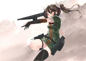 Rating: Safe Score: 56 Tags: anthropomorphism elbow_gloves gloves gun kantai_collection ko_ru_ri military tone_(kancolle) weapon User: Flandre93