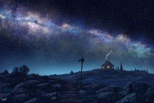 Rating: Safe Score: 37 Tags: night nobody original pei_(sumurai) polychromatic scenic signed stars tree User: mattiasc02