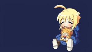 Rating: Safe Score: 66 Tags: artoria_pendragon_(all) blonde_hair blue cat_smile chibi cosplay crying fate_(series) fate/stay_night saber tears User: CountFapula013