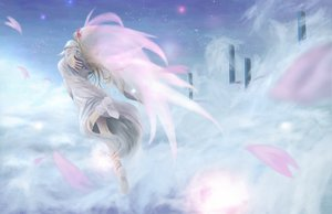 Rating: Safe Score: 51 Tags: blonde_hair dress fairy hat lily_white long_hair petals touhou wings User: opai