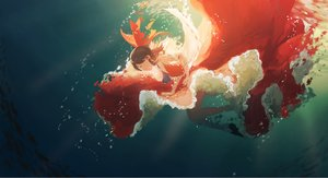 Rating: Safe Score: 79 Tags: bubbles hakurei_reimu motsuba touhou underwater water User: FormX