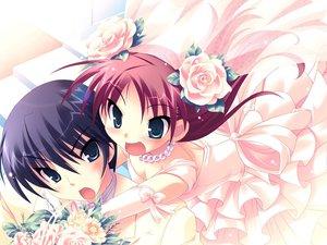 Rating: Safe Score: 13 Tags: harukazedori_ni_tomarigi_wo momotani_harune wedding wedding_attire User: korokun