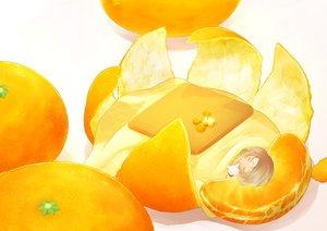 Rating: Safe Score: 93 Tags: ahira_yuzu animal brown_hair cat food fruit kotatsu orange_(fruit) original short_hair sleeping User: otaku_emmy