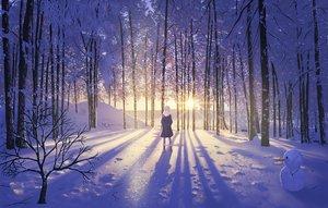 Rating: Safe Score: 161 Tags: blonde_hair boots hat nauimusuka original scenic snow snowman tree winter User: Flandre93