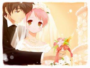 Rating: Safe Score: 9 Tags: sakura_musubi tagme wedding wedding_attire User: Oyashiro-sama
