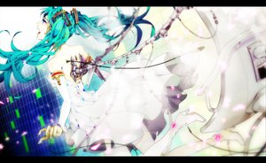 Rating: Safe Score: 48 Tags: akiakane aqua_hair hatsune_miku twintails vocaloid User: HawthorneKitty