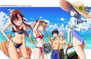 Rating: Safe Score: 52 Tags: ayanami_rei bikini ikari_shinji makinami_mari_illustrious nagisa_kaworu neon_genesis_evangelion soryu_asuka_langley swimsuit User: HawthorneKitty