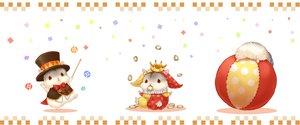 Rating: Safe Score: 14 Tags: animal ball bow collar crown food hat nobody original waifu2x wand yutaka_kana User: otaku_emmy