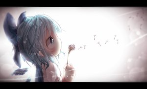 Rating: Safe Score: 80 Tags: akisha blue_eyes blue_hair cirno flowers loli touhou wings User: Flandre93