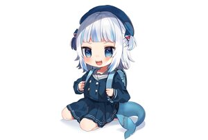 Rating: Safe Score: 29 Tags: blue_eyes blush gawr_gura hat hololive loli noi_mine school_uniform short_hair skirt tail twintails white_hair User: otaku_emmy